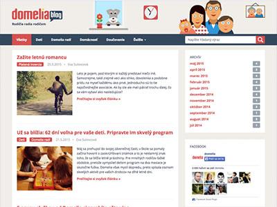 Blog pre rodičov na Domelia.sk